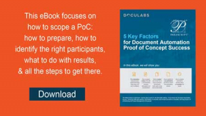 Key Factors for a Successful Document Automation PoC